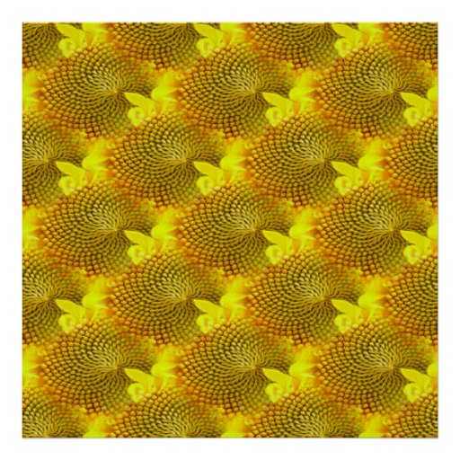 Pretty Yellow Flower Collage Posters