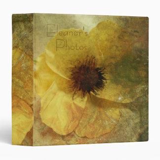 Pretty Yellow Flower Photo Album 3 Ring Binder