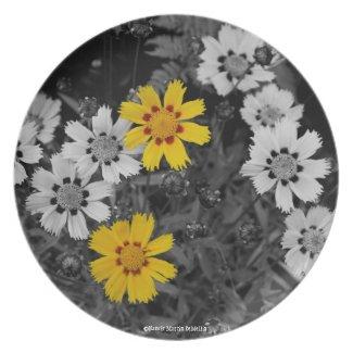 Pretty Yellow Flower Plate