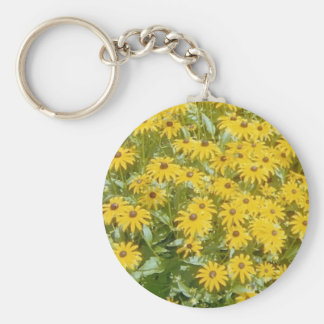 Pretty Yellow Flowers  Design Products Keychain