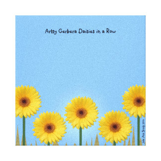 Pretty Yellow Gerbera Daisies in a Row IV Canvas Print