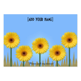 Pretty Yellow Gerbera Daisies in a Row IV Large Business Card