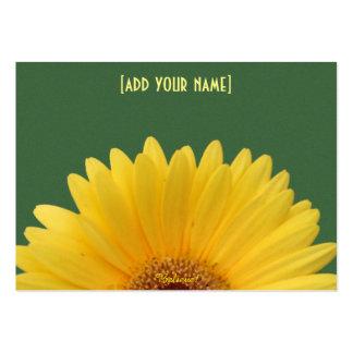 Pretty Yellow Gerbera Daisy on Green Large Business Card