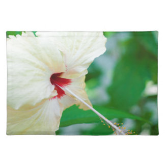 Pretty yellow hibiscus flower place mat