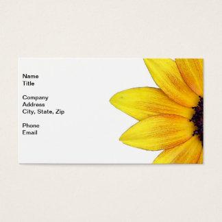 Pretty Yellow Orange Sunflower of 2014 Business Card
