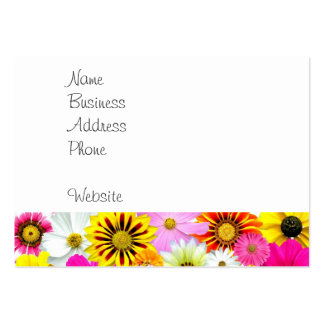 Pretty Yellow Pink White Flower Daisies Gifts Large Business Card