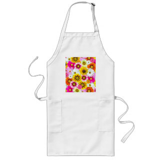 Pretty Yellow Pink White Flower Daisies Gifts Long Apron