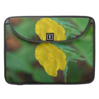 Pretty Yellow Poppy MacBook Pro Sleeves