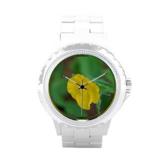 Pretty Yellow Poppy Wristwatches