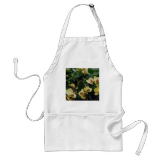 Pretty Yellow & Red Phalaenopsis Orchids Adult Apron