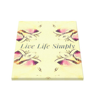 Pretty Yellow Rose Lifestyle Quote Canvas Print