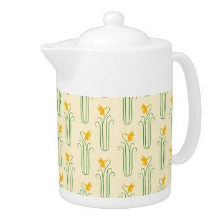 Pretty Yellow Spring Daffodils Tea Pot