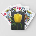 pretty yellow tulip flower card deck
