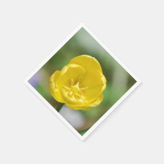 Pretty Yellow Tulips Paper Napkins