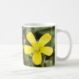 Pretty yellow wildflower mug
