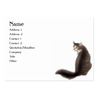 Pretty Young Cat Customizable Business Card