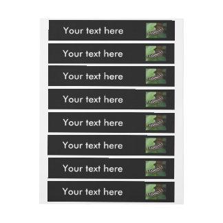 Pretty Zebra Longwing Butterfly Custom Labels Wraparound Address Label