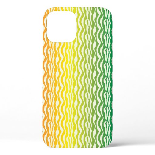 Pretty Zebra Rainbow Pattern iPhone 12 Case