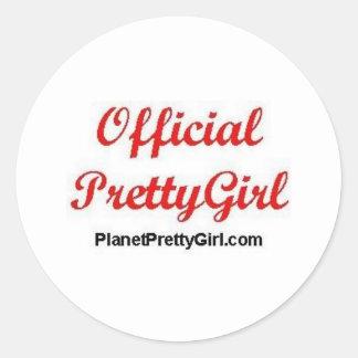 PrettyGirl Stuff Classic Round Sticker