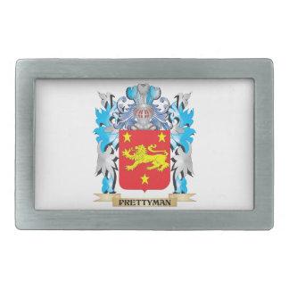 Prettyman Coat of Arms - Family Crest Rectangular Belt Buckles