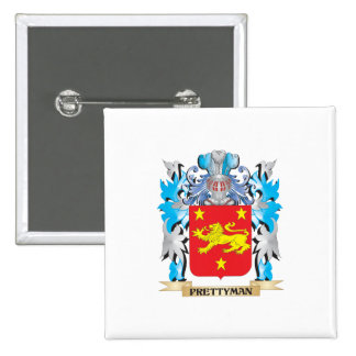 Prettyman Coat of Arms - Family Crest Pinback Button