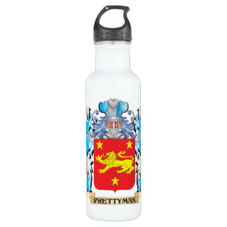 Prettyman Coat of Arms - Family Crest 24oz Water Bottle