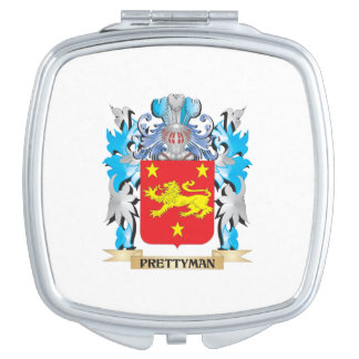 Prettyman Coat of Arms - Family Crest Mirror For Makeup