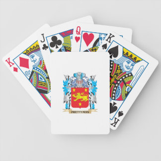 Prettyman Coat of Arms - Family Crest Bicycle Playing Cards
