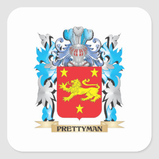 Prettyman Coat of Arms - Family Crest Square Stickers