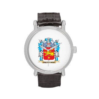 Prettyman Coat of Arms - Family Crest Wristwatch