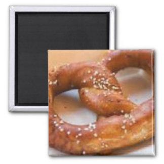 Pretzel 2 Inch Square Magnet