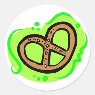 Pretzel Classic Round Sticker
