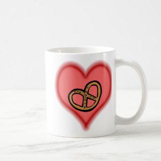 pretzel classic white coffee mug