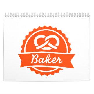 Pretzel del panadero calendario de pared