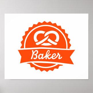 Pretzel del panadero póster