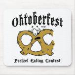 Pretzel Eating Contest Oktoberfest Gift Mousepad