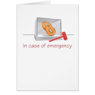 Pretzel Emergency Greeting Cards