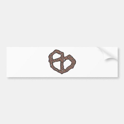 pretzel etiqueta de parachoque