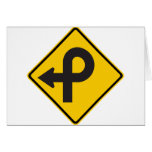Pretzel Loop Highway Sign Greeting Card