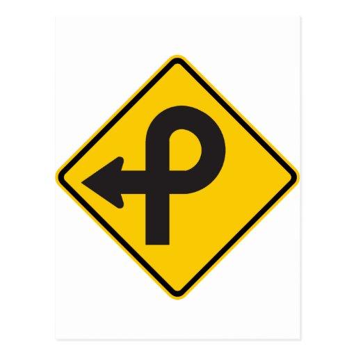Pretzel Loop Highway Sign Postcard