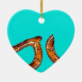 Pretzel Love Ceramic Ornament