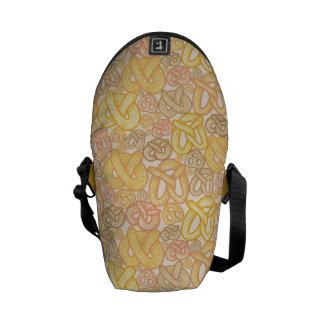 Pretzel Pattern Courier Bag