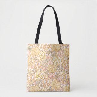 Pretzel Pattern Tote Bag