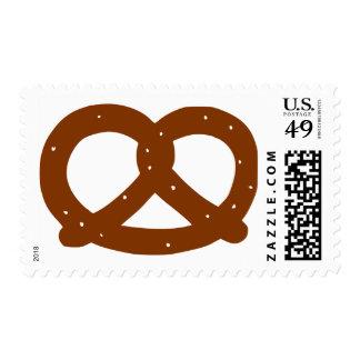 Pretzel Postage Stamp