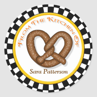 Pretzel & Round Checkerboard Kitchen Stickers