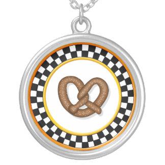 Pretzel & Round Checkerboard Necklace