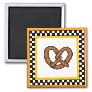 Pretzel & Square Checkerboard Magnet