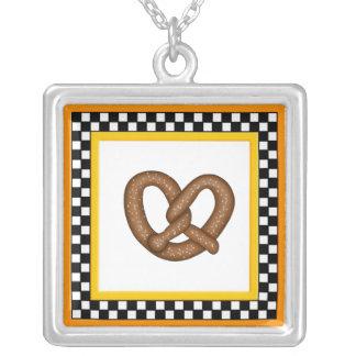 Pretzel & Square Checkerboard Necklace