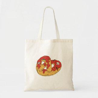 pretzel suave caliente cargado bolsa tela barata