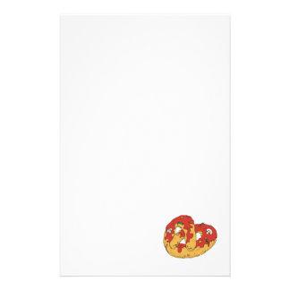 pretzel suave caliente cargado papelería de diseño